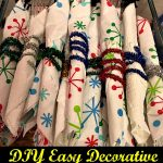 DIY Easy Decorative Silverware Wrap