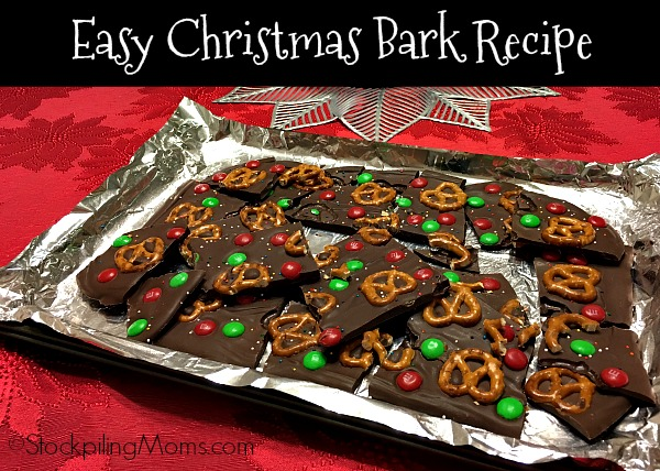 Easy Christmas Bark Recipe is the best dessert treat for any holiday party this season!