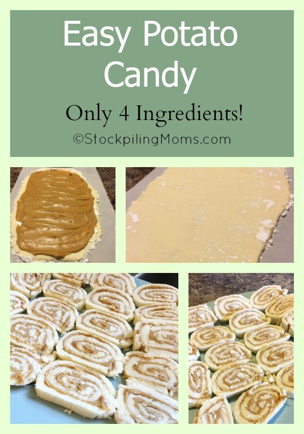Easy Potato Candy recipe that has only 4 ingredients! So yummy!