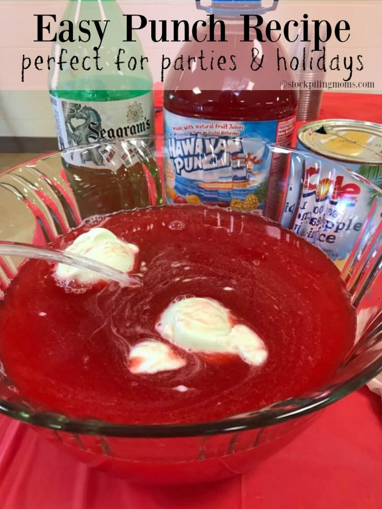 Easy punch recipe that is perfect for parties and holidays