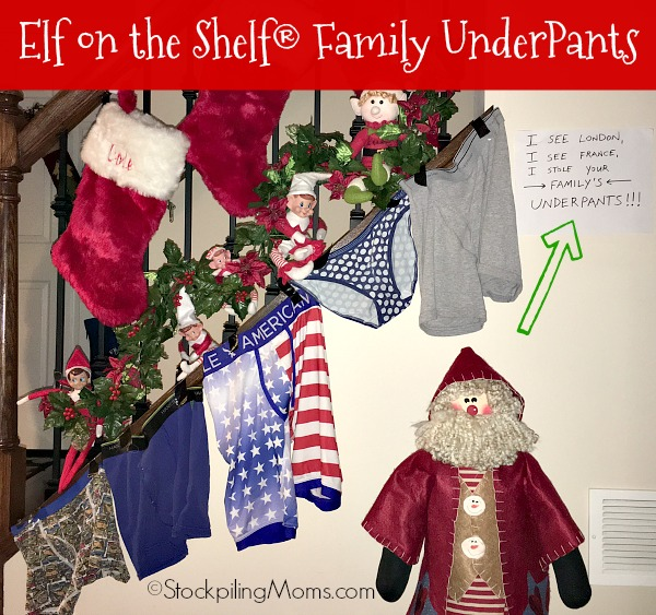 Elf on the Shelf® Family UnderPants Idea is sure to get a laugh from the family!