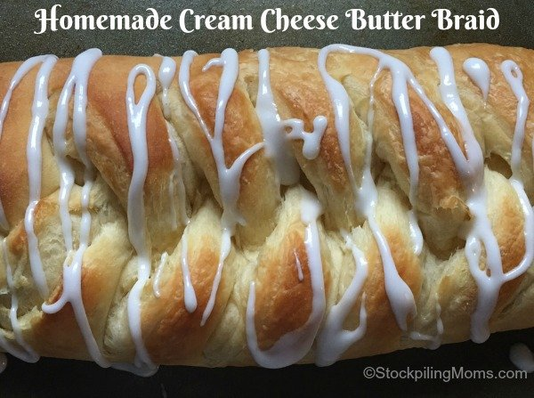 Homemade Cream Cheese Butter Braid recipe tastes so good and is perfect for Christmas morning!