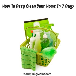 How To Deep Clean Your Home In 7 Days