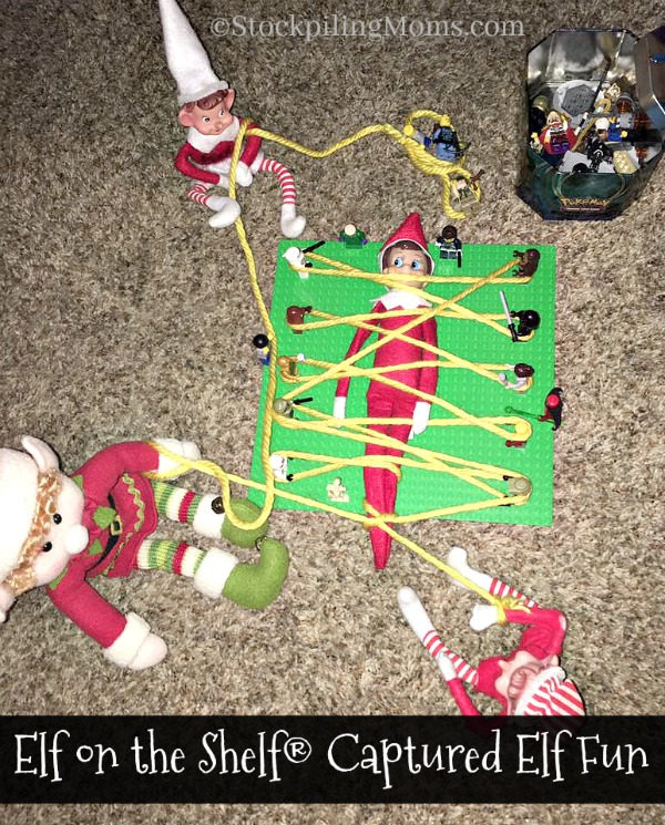 Elf on the Shelf® Captured Elf Fun is a great idea for the boys in your home!