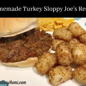 Homemade Turkey Sloppy Joe's Recipe