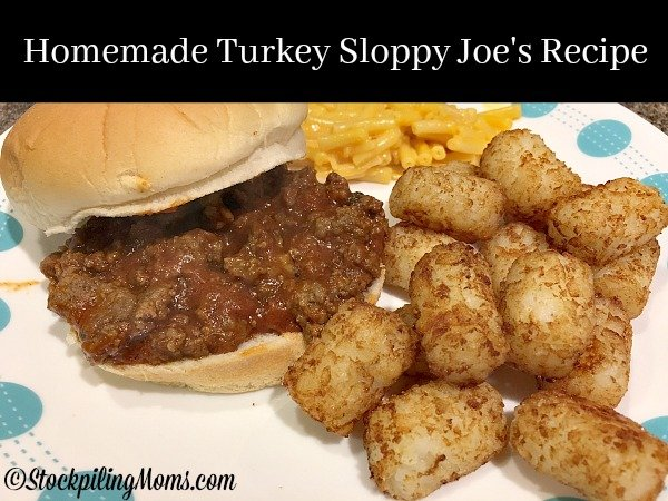 Homemade Turkey Sloppy Joe's Recipe is a comfort food with a healthy twist. just for you!