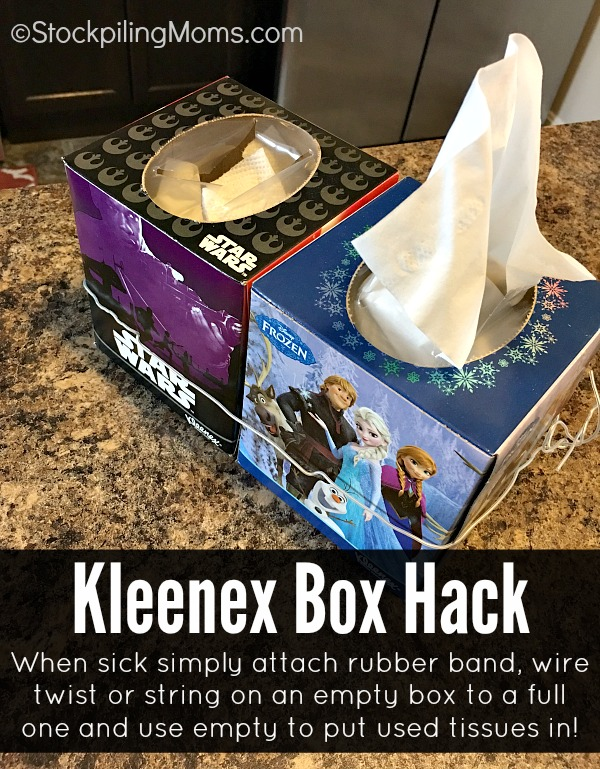 Kleenex Box Hack that will help you when you or a family member is ill!