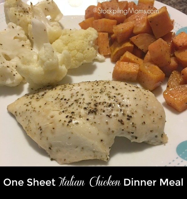 This easy, 30 minute recipe for One Sheet Italian Chicken Dinner Meal will quickly turn into a family favorite!