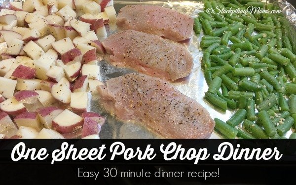 One Sheet Pork Chop Dinner recipe that you will enjoy with your family!