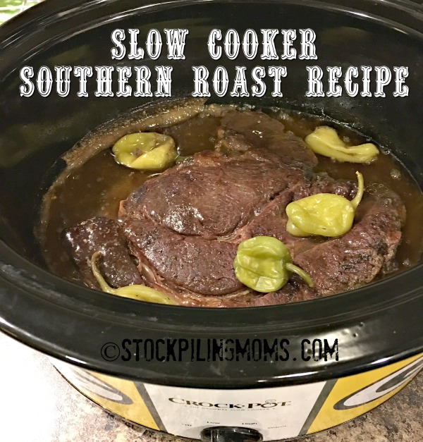 Slow Cooker Southern Roast Recipe is a flavorful dish with only 4 ingredients and 10 hours in the crockpot!