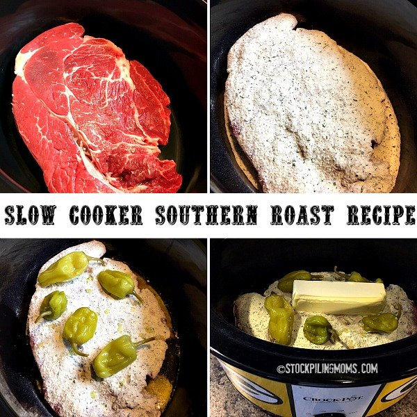 Keto Slow Cooker Southern Roast Recipe is so flavorful and fulfilling with only 5 ingredients! Perfect low carb crockpot recipe!