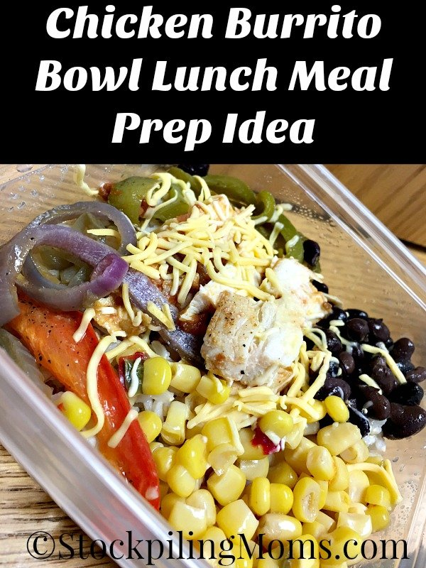 Chicken Burrito Bowl Lunch Meal Prep Idea is the perfect way to pack healthy lunches for work!