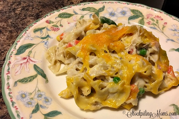 You will love this easy, comfort dinner recipe for Chicken Noodle Casserole!