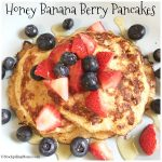 Honey Banana Berry Pancakes
