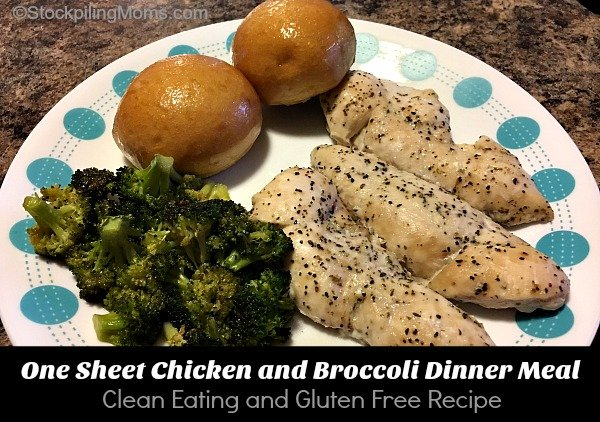 One Sheet Chicken and Broccoli Dinner Meal is an easy clean eating, gluten free recipe!