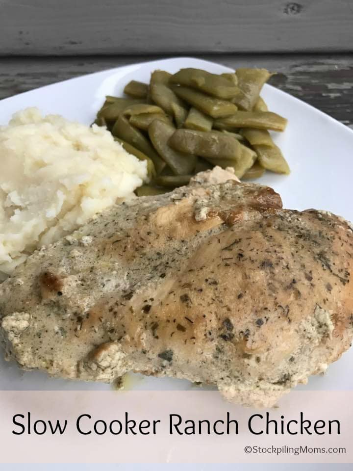 Slow Cooker Ranch Chicken is a healthy Paleo freezer meal the whole family will enjoy.