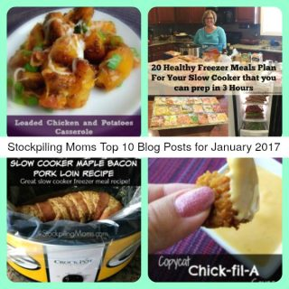 Stockpiling Moms Top 10 Blog Posts for January 2017