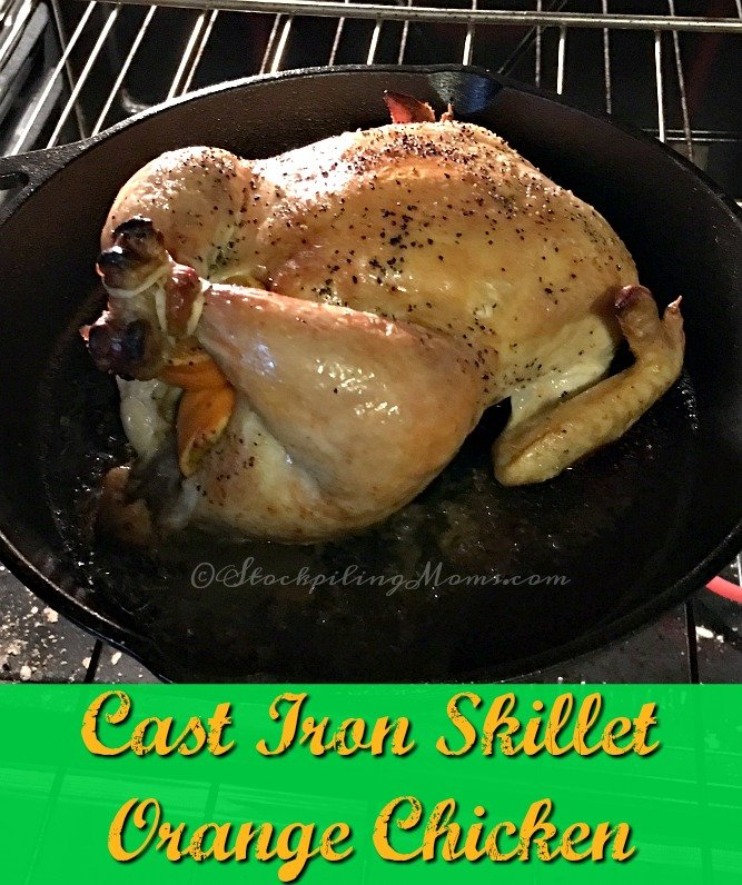 This easy recipe for Cast Iron Skillet Orange Chicken is ready within an hour! Put it in the oven and just wait.