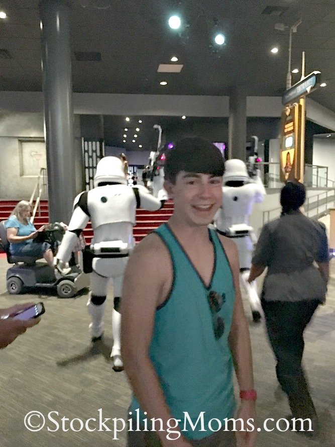 Disney World Star Wars Launch Bay in Hollywood Studios is a must go to place if you are a Star Wars fan!