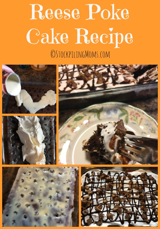 Reese Poke Cake Recipe is the perfect kid friendly dessert!
