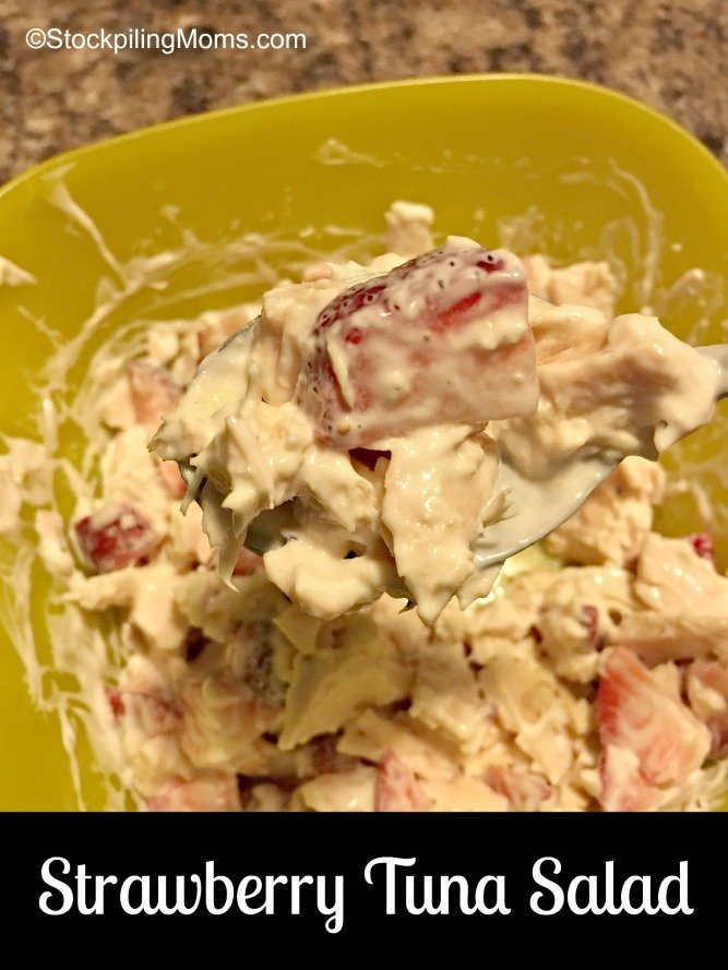 This delicious Strawberry Tuna Salad recipe is perfect for a light lunch!