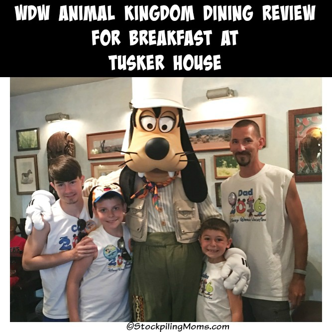 Walt Disney World Animal Kingdom Dining Review for Breakfast at Tusker House
