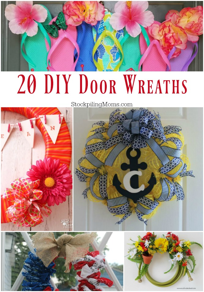 Don't miss our great DIY Door Wreath Tutorials that are ideal for updating your home front door for any season!