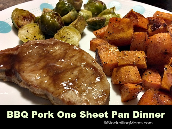 BBQ Pork One Sheet Pan Dinner is such an easy 30 minute meal!