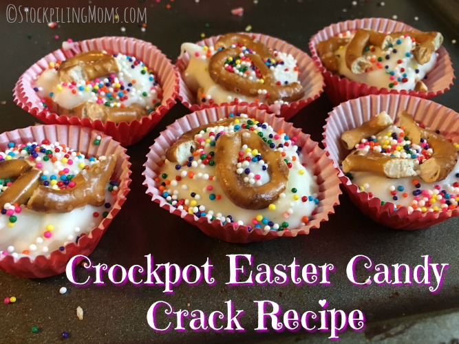 Crockpot Easter Candy Crack Recipe is my favorite to make for our family gathering! It is so easy and tastes just like a chocolate bar!