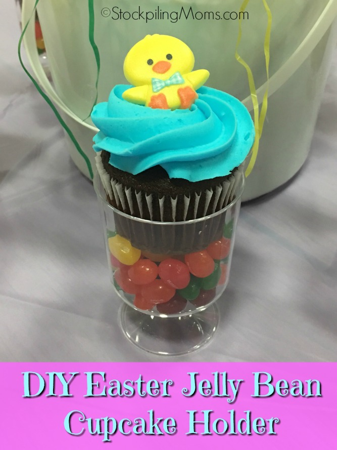 DIY Easter Jelly Bean Cupcake Holder is an adorable table decoration for an Easter brunch or dinner!