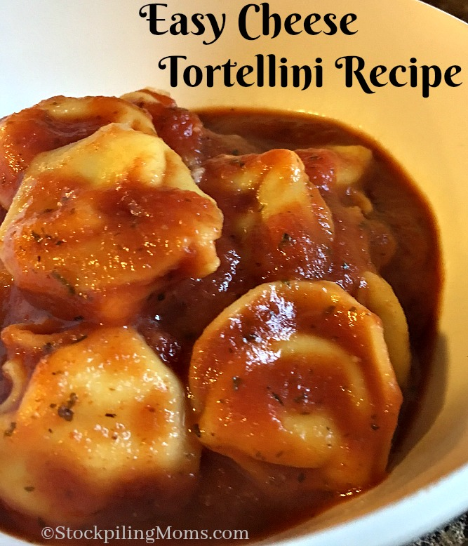 Easy Cheese Tortellini Recipe is a tasty, quick dinner meal!