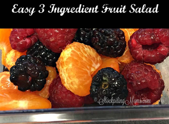 Easy 3 Ingredient Fruit Salad that is naturally gluten free and perfect to serve with your Easter dinner!