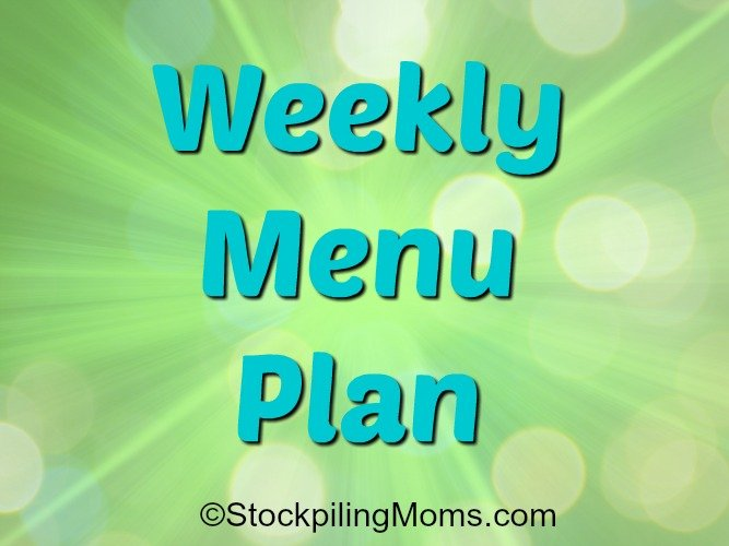 Weekly Menu Plan to help you save time and money on dinner this week for your family!