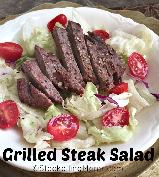 Grilled Steak Salad is perfect for a summer time dinner! Quick and easy recipe! Keto Friendly too!