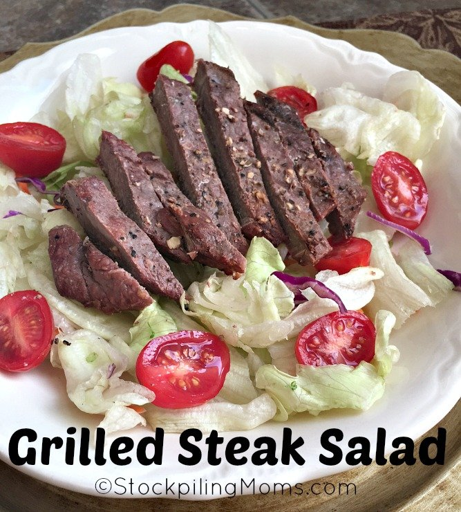 Grilled Steak Salad is perfect for a summer time dinner! Quick and easy recipe!