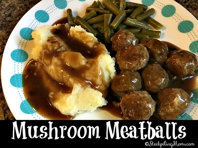 Mushroom Meatballs is a hearty dinner meal recipe!