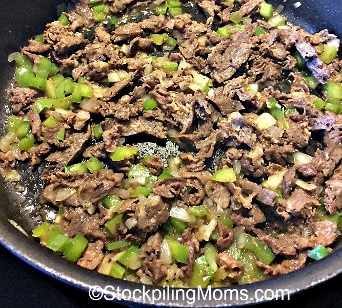 Philly Cheese Steaks Skillet Recipe is perfect for a week night dinner that you can make in less than 30 minutes!