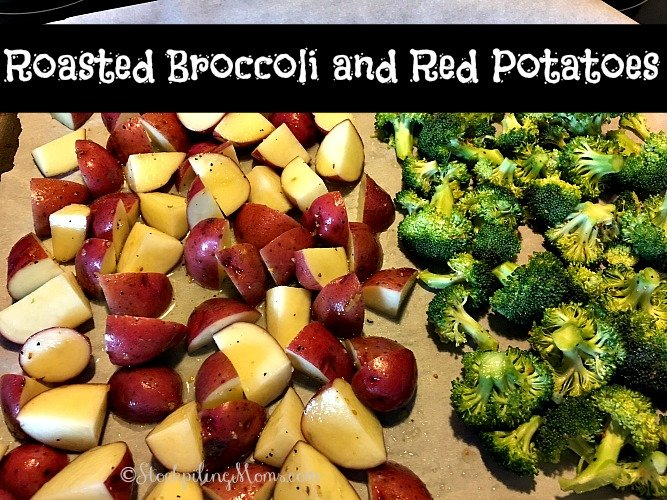 Roasted Broccoli and Red Potatoes is my favorite side dish recipe to make with most meals and it so easy to make in 30 minutes!
