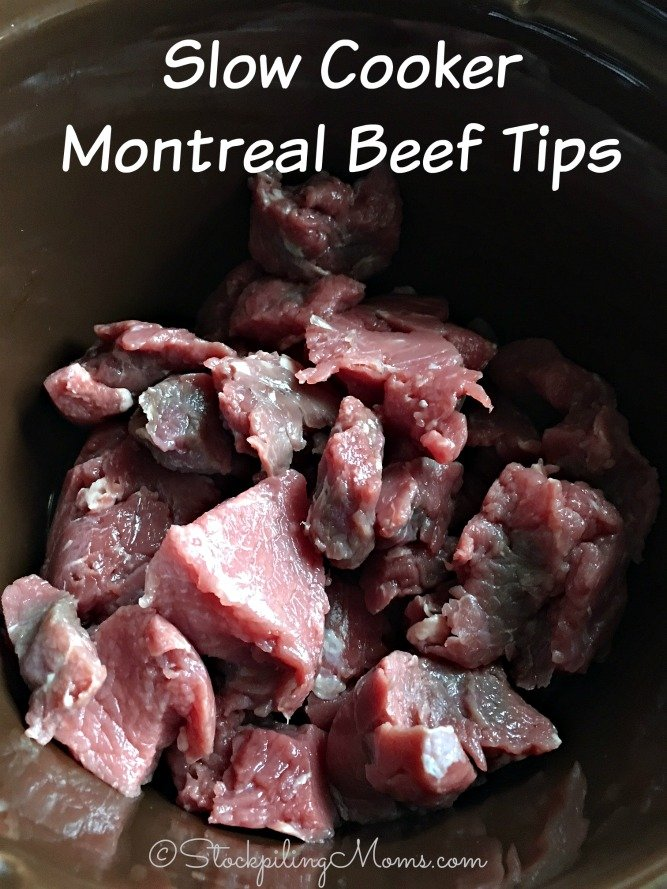 Slow Cooker Montreal Beef Tips is the easiest dinner recipe for a busy night!