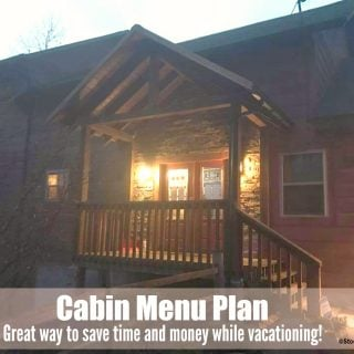 Cabin Menu Plan