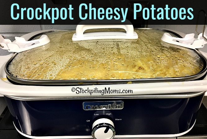 Crockpot Cheesy Potatoes is the perfect slow cooker recipe for a party or the holidays!