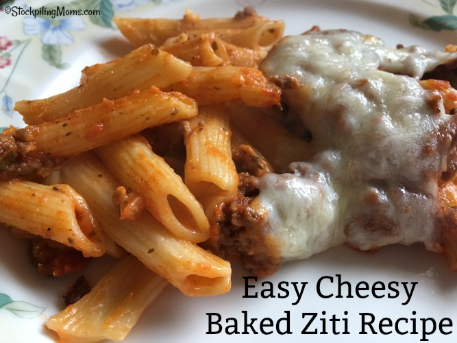 Easy Cheesy Baked Ziti Recipe is also a great freezer meal!