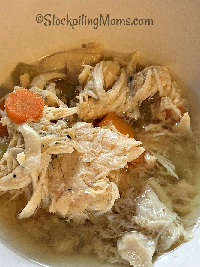 Easy Chicken Soup that can be made in the slow cooker all day or in the pot in less than 30 minutes!