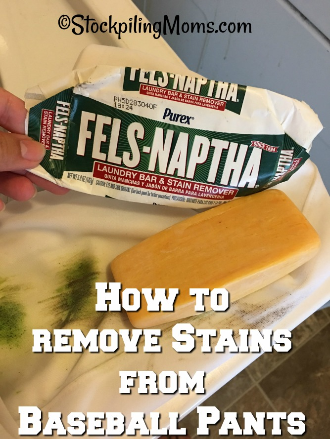 How to remove Stains from Baseball Pants especially white ones! Easy tip that cost less than a dollar.
