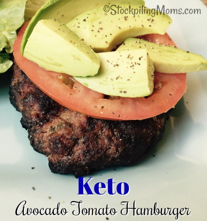 Keto Avocado Tomato Hamburger is a tasty and fulfilling lunch or dinner recipe!