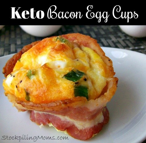 Keto Bacon Egg Cups is the perfect breakfast recipe that you can prep ahead for those busy work mornings!