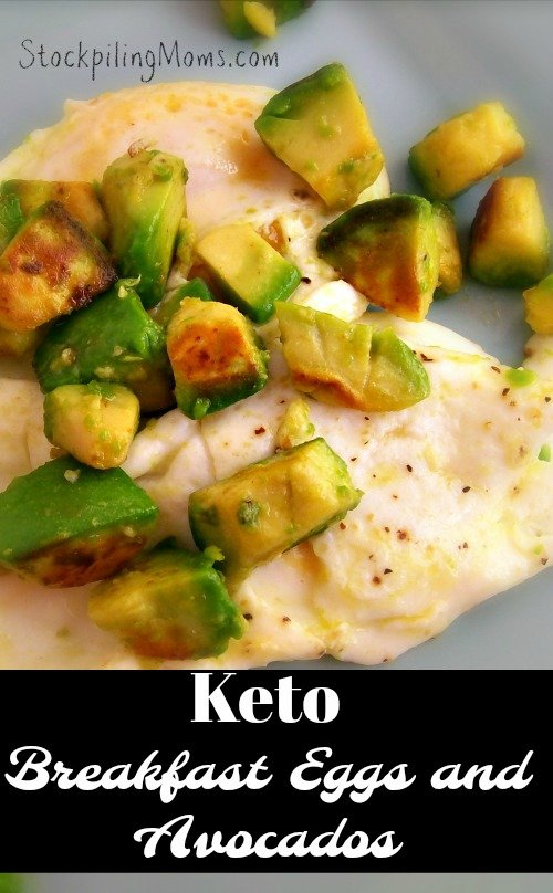Keto Breakfast Eggs and Avocados is the perfect way to start your morning! Plus you can make this recipe in five minutes!