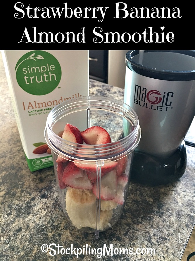 Strawberry Banana Almond Smoothie is a delicious beverage recipe, that is perfect for summer time!