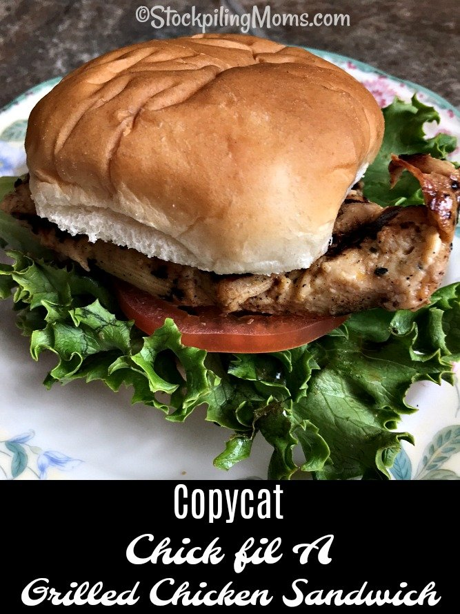 This Copycat Chick fil A Grilled Chicken Sandwich tastes just like getting it at the restaurant!