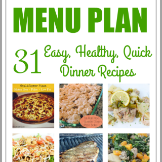 EASY HEALTHY QUICK MONTHLY MENU PLAN – July